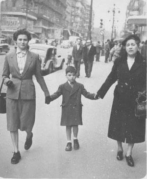 1953 sur la Canebière entre Andrée Kahn et Nandine Weill