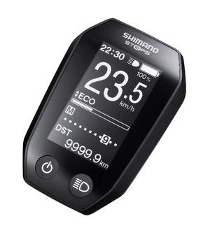 Das Shimano SC-E6010 e-Bike Display verfügt über eine kontrastreiche, gut lesbaren Anzeige, die alle relevanten Fahrdaten übersichtlich darstellt.