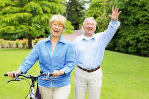 Knie schonen beim e-Bike fahren