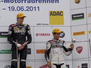 Yamaha, 600 ccm, Rennen, Straßenrennen, Siegerehrung