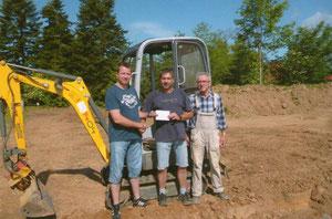 Von links  Kai Esemann, Achim Eggert und Paul Langer
