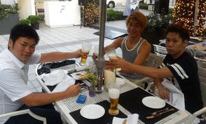 第2回韓日未来フォーラム委員長(笹山氏)と会食(2014年7月30日)