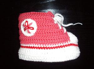zapatilla de crochet