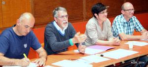 Pascal Rupert, Alain Massias, Ana Waldhart et Alain Urrutiaguer
