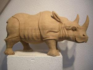 Rhinozeros Holzfigur