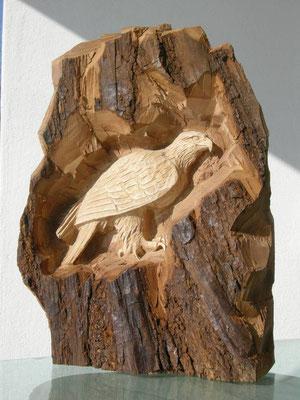 Adler Schnitzerei Holzfigur paul widmer