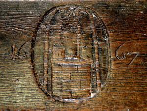 Banc mobile de la Confrérie du Puy: 1667