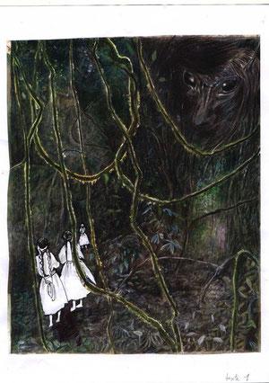 Femmes arouches dans la forêt