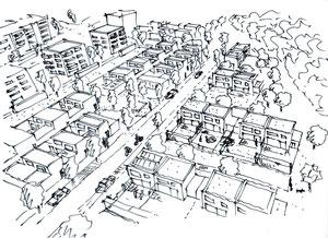 Bebauungsstudie, Andreas Kölblinger Dipl.-Ing (FH) Architekt Stadtplaner