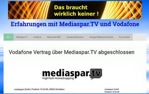 Mediaspar.TV und Vodafone Erfahrungen