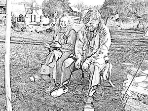 Manu  und Fjörnir 2011 in Bäbelin