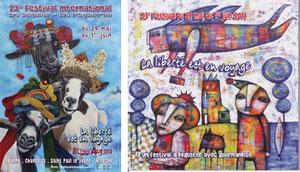 L'affiche et la une du catalogue du 23e festival