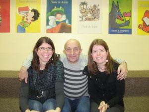 Mmes Andréanne et Nadine avec M. Béha