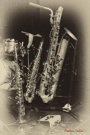 Saxophones soprano, ténor, baryton de Guillaume Schmidt. Festival JAZZ360, Cénac, 09/06/2018