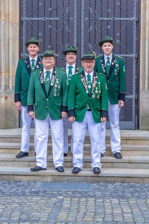 (Vl. nach Re.): Ansgar Budde, Olaf Elverkämper, Markus Ruhe, Wilfried Holtkämper, Achim Dieckmann