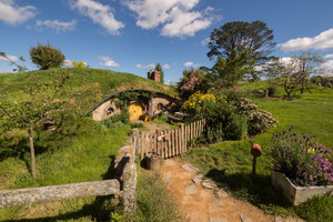 Shire Hobbiton movie set near Matamata
