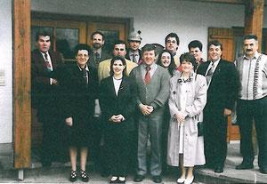 Teilnehmer beider Komitees am Bürgermeistertreffen in Landshut