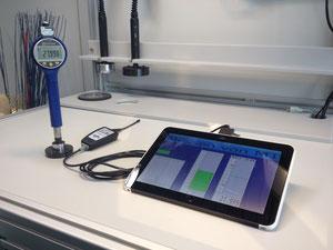 Tablet mit Funkmodul und Messgerät