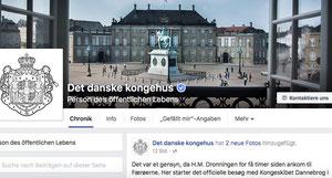 Dänemarks Königshaus ist jetzt auf Facebook. Foto: Screenshot/CS