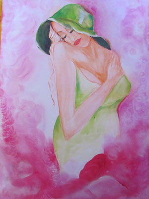 "Woman ""proud"" 70 x 50 cm 250,00 Euro"