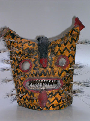 Guerreo Jaguar mask - Zitlala, early 1900's
