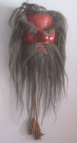 Tengu mask, Taisho period (1912-1926)