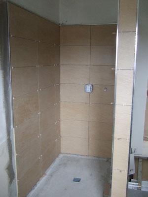 Dusche im großen Bad