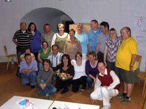 Ein Teil der Gruppen stellte sich dem Foto