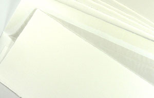 Büttenpapierkarte DIN lang.