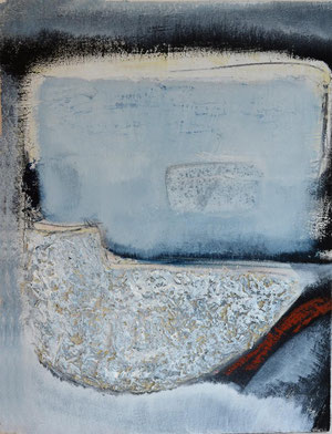 SandStein (blau) 1, Acrylmischt. auf Holz, ca. 29 x 40 cm, 2012