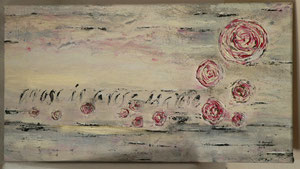Kalligrafie Mixed Media Kalligrafie A rose