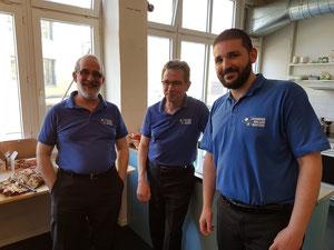 Die Spieler aus Lausanne: Fernando, Michel und Joel (vlnr)