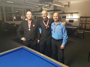 vlnr: Vincent (Bronze), Xavier (Gold), Pierre-Alain (Silber)