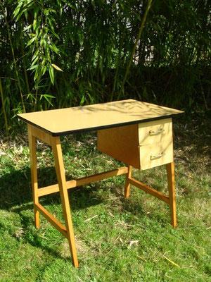 petit bureau compa hêtre et formica vintage