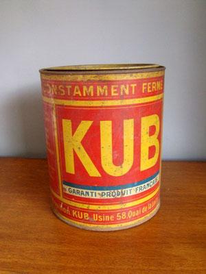Grande boîte ronde métal KUB