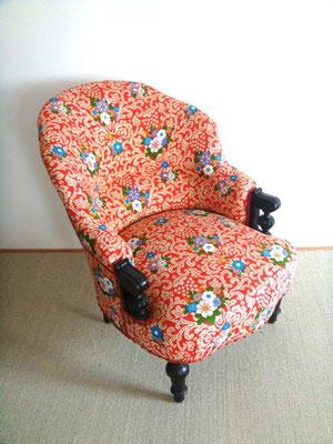 fauteuil Napoléon III tissus vintage