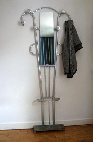 Porte manteau et parapluie aluminium vintage