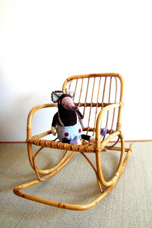 Rocking chair rotin enfant
