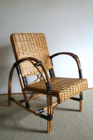 fauteuil rotin enfant années 50