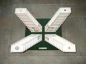 Table basse cartes en croix