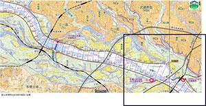 図1 東京都調布市〜神奈川県川崎市の地形(国土地理院「治水地形分類図」に基づく)