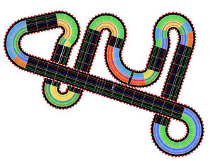 26,51m CARRERA-Schienen