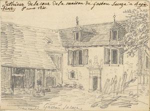 La maison de Pierrine (dessin de Houbigant)
