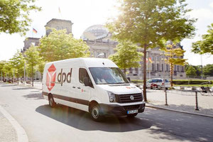 Is dpd, here van standing near the German Reichstag, becoming part of the Alibaba empire?  -  photo: dpd