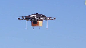Earlier model of the Amazon drone  /  company courtesy