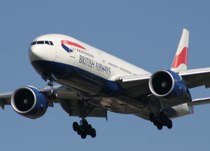 Boeing 777 operated by BA on the London-Kuala Lumpur route  /  courtesy IAG Cargo
