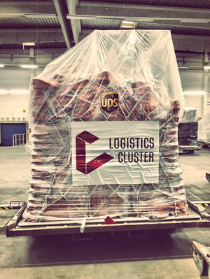 Ready for carriage – Ebola relief supplies at Cologne-Bonn's staging area  /  source: CGN