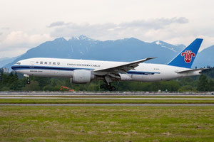 One of China Southern's meanwhile 9 Boeing 777Fs  /  company courtesy