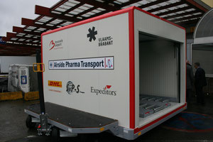 Brussel Airport's pharma transport unit  -  photo ms