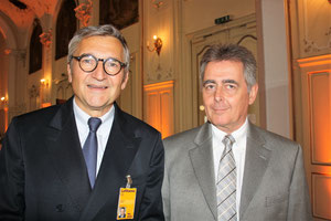 LH Cargo's Chief of Security Harald Zielinski (left) and Judge Professor Wolfgang Bock  -  picture: hs